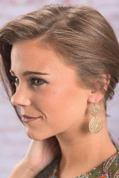 Sun And Moon Earrings, Gold
