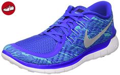 Nike Herren Free 5.0 Print Laufschuhe, Blau (Rcr Bl/Rflct Slvr-Gmm Bl-White 404), 42 EU - Nike schuhe (*Partner-Link)