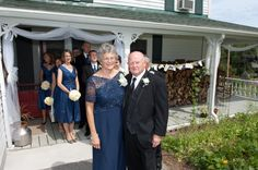 Wedding party and parents of the groom waiting to be introduced at the reception at The Alpine Homestead in the Adirondacks in upstate NY Bridesmaid Dresses, Wedding Dresses, Homestead, Special Events, Waiting, Groom, Parents, Reception, Fashion