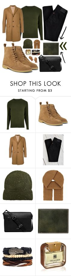 """✔️✔️✔️"" by sanela-enter ❤ liked on Polyvore featuring River Island, Bottega Veneta, Tagliatore, Levi's, MANGO, Junya Watanabe, Michael Kors, J.Fold, Trussardi and Red Wing"