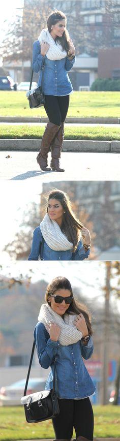 Fall Style // Denims + knits.