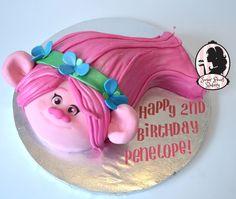 Trolls Birthday Cake - Poppy Poppy cake from the movie trolls