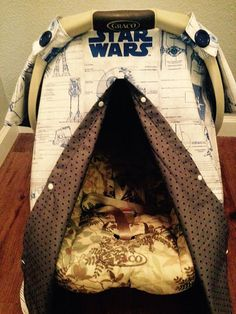PEEKABOO Carseat Canopy cover Star Wars blue by LilacsAndLeopards