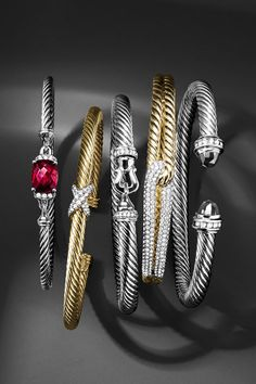 Blinged out bangles.