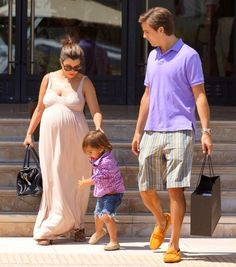 Pregnant Kourtney Kardashian Shops at Barney's with Son Mason Dash Disick and Boyfriend Scott <3