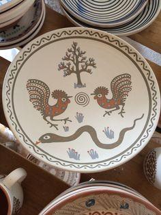 Horezu plate Old Houses, Romania, Homeschooling, Snake, Decorative Plates, Folk, Culture, Traditional, Patterns