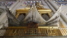 One of the organs in Toledo Cathedral: trumpets en chamade by Allan Rostron on Flickr.