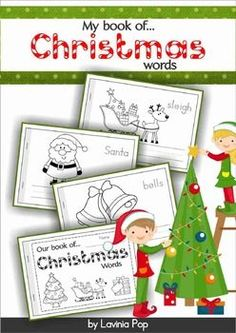 My Book of...Christmas Words FREE! This unit is included in my Christmas MEGA BUNDLE! A Christmas vocabulary half-page booklet to help students learn new vocabulary words!
