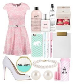 """""""substitute teacher"""" by isabellaobrien14 ❤ liked on Polyvore featuring Club L, Le Silla, philosophy, Ladurée, Nate Berkus, ban.do, Casetify, Henri Bendel, Blue Nile and Forever 21"""