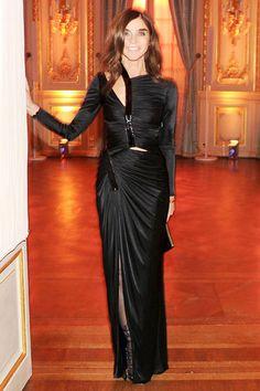 Carine Roitfeld in Versace