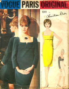 Vogue Paris Original 1311; 1960s; Christian Dior - One Piece Dress