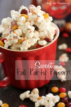 Sweet Fall Party Popcorn!