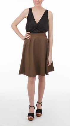 Costume National Glittered Wool Skirt