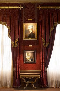 Kenwood House, Hampstead, London....the drapes, the lighting, the picture