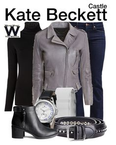Inspired by Stana Katic as Kate Beckett on Castle. Cool Outfits, Casual Outfits, Fashion Outfits, Fashion Ideas, Fashion Inspiration, Detective Outfit, Vampire Diaries Outfits, Themed Outfits, Inspired Outfits