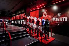 Nulty - Nike Manchester United - Retail Store Illumination Merchandise Display | Highly Commended Lighting Design Awards 2012 and Lux Awards 2012