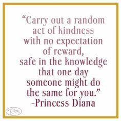 Princess Diana on Act of Kindness