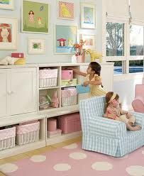 Playroom---adorable & the shelving is just the  right height