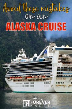 Avoid These Mistakes On An Alaska Cruise Sailing on an Alaska cruise? Avoid these Alaska cruise mistakes like not having enough warm clothes, not prepared for motion sickness, not having enough rain gear and more. Packing For A Cruise, Cruise Tips, Cruise Travel, Cruise Vacation, Honeymoon Cruise, Cruise Destinations, Family Cruise, Family Travel, Vacations