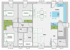 Aide Pour Aménagement Plan Maison De 95.77 M²   39 Messages   Page 3. Plan  De Maison IntérieurPlan Maison Plain PiedMaison ...