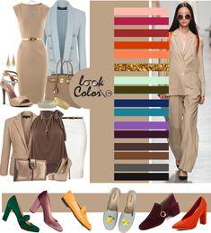 Colour Combinations Fashion, Color Combinations For Clothes, Color Combos, Beige Color Palette, Color Khaki, Beige Dress Outfit, Color Type, Moda Fashion, Womens Fashion