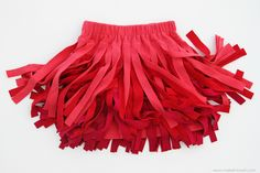 Upcycle t-shirts into a fun fringed skirt