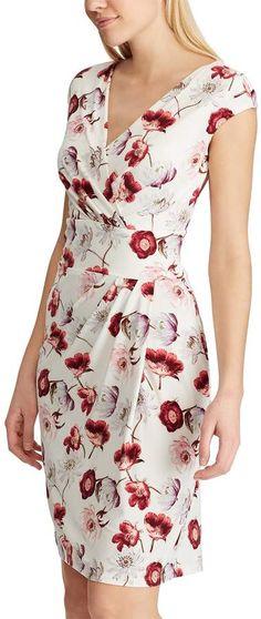 Women's Chaps Pleated Surplice Dress – Women's Fashion Lovely Dresses, Modest Dresses, Stylish Dresses, Simple Dresses, Elegant Dresses, Casual Dresses, Fashion Dresses, Mode Top, Surplice Dress
