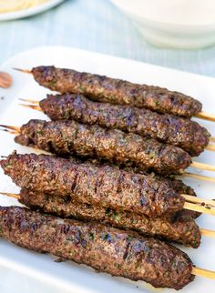Nothing beats the taste of grilled beef Kafta Kebabs. This easy Lebanese recipe requires only a handful of basic ingredients and is a summertime favourite. #kaftakebab #beefkebab #beefkafta #grilledkafta Kebab Recipes, Crockpot Recipes, Cooking Recipes, Curry Recipes, Easy Recipes, Easy Lebanese Recipes, Ground Meat Recipes, Grilled Beef, Middle Eastern Recipes