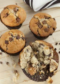 Klasické muffiny s kúskami čokolády