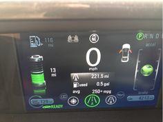 Chevy Volt dashboard.