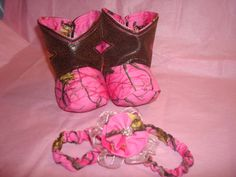Pink Camo Boots and Pink Camo Headband by RusticAttitude on Etsy