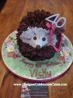 Hedgehog Cake, Cute Hedgehog, Cute Food, Birthday Ideas, Food Ideas, Party Ideas, Cakes, Animal, Christmas Ornaments