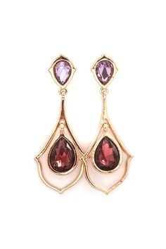 Suzanna Earrings in Warm Burgundy