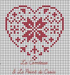 La Comtesse & Le Point De Croix: Christmas Heart for you. Cross Stitch Christmas Cards, Christmas Hearts, Christmas Cross, Cross Stitch Heart, Simple Cross Stitch, Cross Stitch Designs, Cross Stitch Patterns, Cross Stitching, Cross Stitch Embroidery