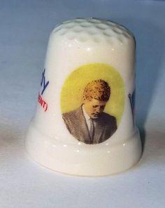 President John F. Kennedy Porcelain Thimble