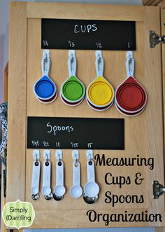 One of the first items on my 40 bags in 40 days challenge was to clean out the kitchen utensils. I've been wanting to do something else with my measuring spoons and cups to get them out of the valuable drawer space. The back of cabinet doors looked nice and inviting, perfect for some hooks […]
