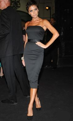 Who made Victoria Beckham's black strapless dress? Dress – Dvb Dress