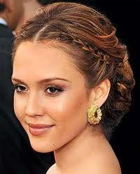 Jessica Alba braid updo