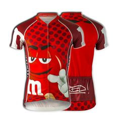 """M&Ms® """"Red"""" Cycling Jersey (Men's)"""