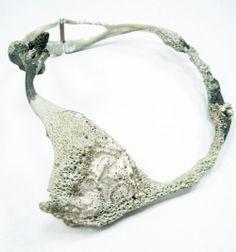 Daniella Saraya Necklace: Untitled, 2013 Silver, epoxy, color 17 X 15 cm