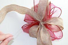 embroitique.com: How to Make Big Decorative Bows ~ a really easy tutorial