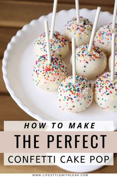 How to Make Confetti Cake Pops - Lifestyle with Leah