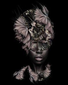 "fyblackwomenart: ""Oya by Linn Wold "" Black Women Art, Black Art, Italy Magazine, Kimberly Mcdonald, The Other Art Fair, Portrait Sketches, New Media, Love Art, Kunst"