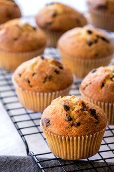La recette des muffins aux pépites de chocolat