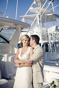 Boat Wedding :) << repinned by BoatsforsaleUK, follow us on Twitter @Cindy Burks for Sale UK for news & updates