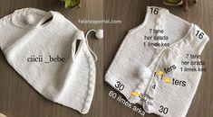 Season ' s trendiest Baby Cardigan Vest tricô modelos Knitting For Kids, Baby Knitting Patterns, Crochet For Kids, Crochet Baby, Knit Crochet, Baby Cardigan, Trendy Baby, Baby Dress, Knitwear