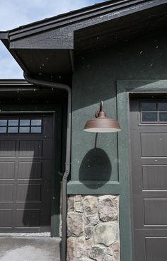 Photo Courtesy of Katie Ireland Garage Lighting, Barn Lighting, Exterior Lighting, Lighting Ideas, Outdoor Lighting, Barn Light Electric, Modern Farmhouse Lighting, Wall Lights, Ceiling Lights