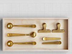 present & correct brass clips
