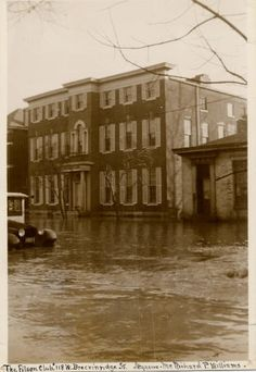 The Filson Historical Society's location on Breckenridge Street was not safe from the rising waters of the 1937 flood. Image from The Filson Historical Society's Special Collections.