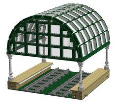 ScotNick's revised and new models - LEGO Train Tech - Eurobricks Forums Lego Train Station, Lego Train Tracks, Lego City Train, Lego Trains, Lego Village, Lego Craft, Lego Mecha, Lego Modular, Lego Room